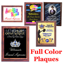 Full color plaque.  Upload your logo or artwork.  5 Plaques sizes available