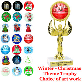 "7 1/2""   Victory with choice of Christmas - Winter themed insert.    Numerous designs available."