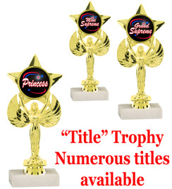 "7 5/8"" tall Title Specific Trophy.  Numerous titles available.  (7517"