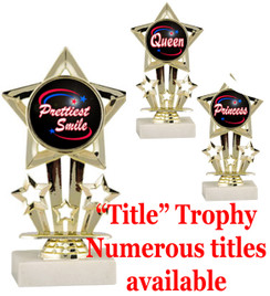 """6"""" tall Title Specific Trophy.  Numerous titles available.  (767"""