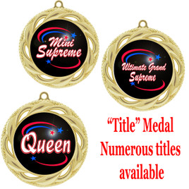 """2 3/4"""" Title Specific Medal.  Numerous titles available.  Includes free engraving and neck ribbon (938)"""