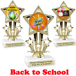 "6"" tall   Back to School themed trophy.  9 Designs available. (767"
