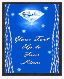 Diamond Custom Full Color Plaque .  Black plaque with full color plate. 3 Plaques sizes available