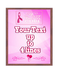 Awareness theme Custom Full Color Plaque .  Brown plaque with full color plate. 5 Plaques sizes available