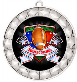 Homecoming Theme Medal.  Includes free back of medal engraving and neck ribbon