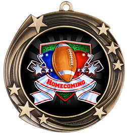 Homecoming Theme Medal.  Includes free back of medal engraving and neck ribbon  (930)