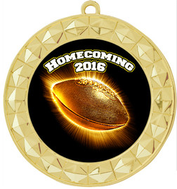 Homecoming Theme Medal.  Includes free back of medal engraving and neck ribbon  (935g)