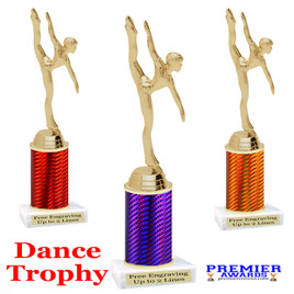 Dance - Gymnastics trophy.  Great for your dance recitals, contests, gymnastic meets, schools and more.