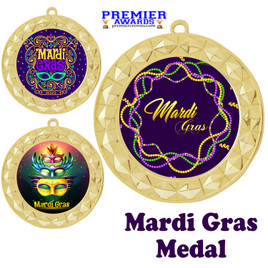 Mardi Gras theme medal.  Great medal for your pageants, contests, competitions and more.  935G