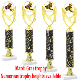 Mardi Gras Trophy - Available in multiple heights.  (007)