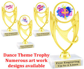 "5  3/4"" tall Dance themed trophy.  (ph28)"