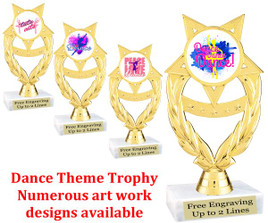 "6  1/2"" tall Dance themed trophy.  (ph97)"