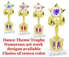 "9  1/2"" tall Dance themed trophy.  (7517cr)"
