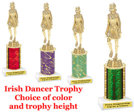 Irish Dancer 1 column trophy.