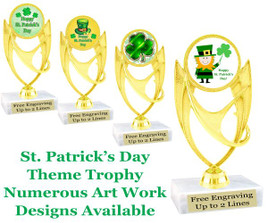 "5  3/4"" St. Patrick's Day theme trophy.  Choice of art work design   (ph28)"