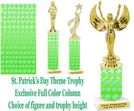 St. Ptrick's Day themed trophy.  Choice of trophy height, figure and base.  (001)