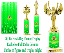 St. Ptrick's Day themed trophy.  Choice of trophy height, figure and base.  (003)