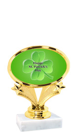 "St Patrick's Day theme trophy  4"" tall. (003)"