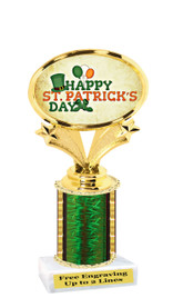 "St Patrick's Day theme trophy  6"" tall. (003)"