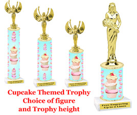 "Cupcake trophy.  A ""Premier"" exclusive trophy!  Choice of figure and trophy height."