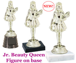 "Gold Jr. Beauty Queen figure on base.  5  1/2"" tall"