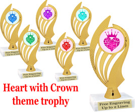 """6 1/2"""" tall trophy with choice of insert color.  (ph102)"""