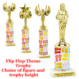 Flip Flop themed trophy.  Choice of trophy height, figure and base.  (001)