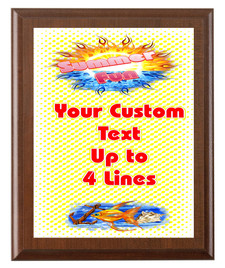 Summer Theme Full Color Plaque.  Customize with your text.  5 Plaques sizes available. (s01)