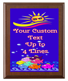 Summer Theme Full Color Plaque.  Customize with your text.  5 Plaques sizes available. (s02