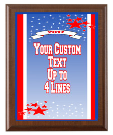 Summer Theme Full Color Plaque.  Customize with your text.  5 Plaques sizes available. (s04