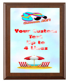 Summer Theme Full Color Plaque.  Customize with your text.  5 Plaques sizes available. (s05