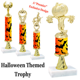 Premier exclusive Halloween trophy.  Choice of trophy height and figure.  (sub-hallSR01)