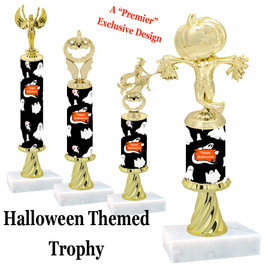 Premier exclusive Halloween trophy.  Choice of trophy height and figure.  (sub-hallSR02)