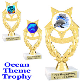 """Ocean theme trophy.  Great for """"Under the Sea"""" events!  (ph97)"""