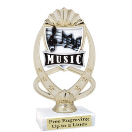"""Music  trophy with choice of base.  6  1/2"""" tall"""