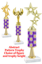 Abstract  pattern  trophy with choice of trophy height and figure (041stem