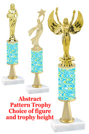 Abstract  pattern  trophy with choice of trophy height and figure (044stem