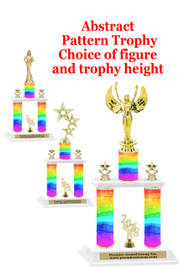 Rainbow  2-Column trophy.  Numerous trophy heights and figures available  (001)