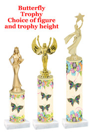Butterfly  trophy with choice of trophy height and figure (B02