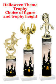 Premier exclusive Halloween trophy.  Choice of trophy height, base and figure.  (sub-hall-20