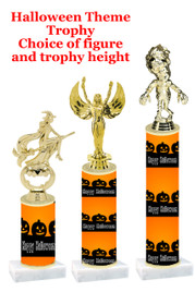 Premier exclusive Halloween trophy.  Choice of trophy height, base and figure.  (sub-hall-21