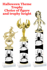 Premier exclusive Halloween trophy.  Choice of trophy height, base and figure.  (sub-hall-24