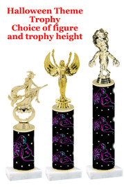 Premier exclusive Halloween trophy.  Choice of trophy height, base and figure.  (sub-hall-25