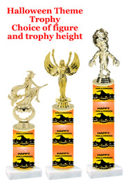 Premier exclusive Halloween trophy.  Choice of trophy height, base and figure.  (sub-hall-26