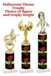 Premier exclusive Halloween trophy.  Choice of trophy height, base and figure.  (sub-hall-27