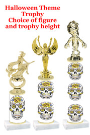 Premier exclusive Halloween trophy.  Choice of trophy height, base and figure.  (sub-hall-28