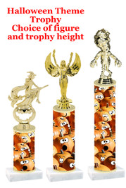 Premier exclusive Halloween trophy.  Choice of trophy height, base and figure.  (sub-hall-29
