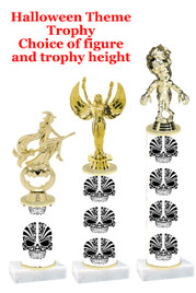 Premier exclusive Halloween trophy.  Choice of trophy height, base and figure.  (sub-hall-30