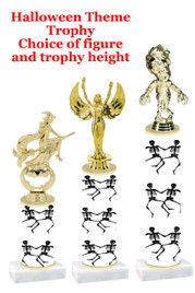 Premier exclusive Halloween trophy.  Choice of trophy height, base and figure.  (sub-hall-31
