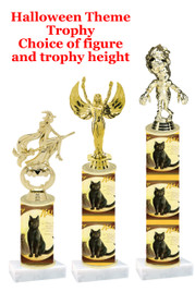 Premier exclusive Halloween trophy.  Choice of trophy height, base and figure.  (sub-hall-33